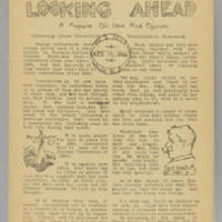 Looking Ahead, v. 2, issue 1, whole no. 5, April 14, 1940