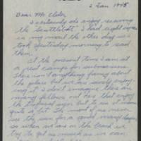 1945-01-02 Leo Palmer to Dave Elder Page 1