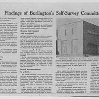 "1951-11-03 Des Moines Register Article: ""Findings of Burlington's Self-Survey Committee"""