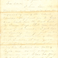 James B. Weaver letters to Clara Vinson, 1856-1858