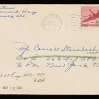 1945-10-10 Evelyn Burton to Carroll Steinbeck - Envelope