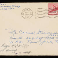 1945-10-03 Evelyn Burton to Carroll Steinbeck - Envelope