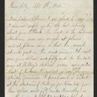 Milton Mowrer letters to Ellen Mowrer Miller, 1865