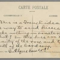 Postcard: Conger Reynolds to Daphne Reynolds - Back