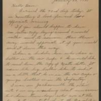 1945-01-22 Sgt. Cloyd Garrett to Dave Elder Page 1