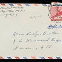 1945-11-06 Carroll Steinbeck to Evelyn Burton - Envelope
