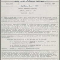 1968-03-14 Newsletter, Fort Madison Branch of the NAACP Page 1