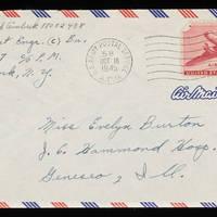 1945-10-15 Carroll Steinbeck to Evelyn Burton - Envelope