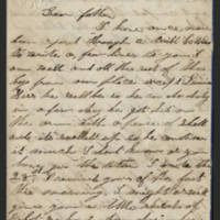 1863-05-09 Charles A. Gates to Mr. Arad Gates Page 1