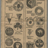 "Clipping: ""Do you know the insignia of the American divisions that fought overseas?"" Page 2"