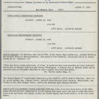 1969-04-17 Newsletter, Fort Madison Branch of the NAACP Page 1