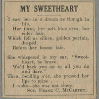 """Clipping: """"""""My Sweetheart"""""""" Page 1"""
