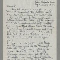 1943-09-03 Laura Davis to Lloyd Davis Page 1
