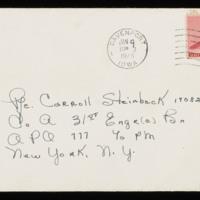 1946-01-04 Evelyn Burton to Carroll Steinbeck - Envelope