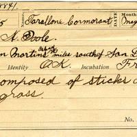 Horace Poole, egg card # hp003u