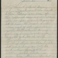 1918-01-12 Thomas Messenger to Mr. & Mrs. N.H. Messenger Page 1