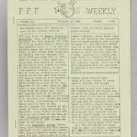 F.F.F. News Weekly, v. 1, issue 5, November 23, 1940