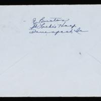 1946-02-16 Evelyn Burton to Carroll Steinbeck - Envelope back