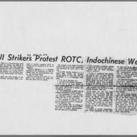 "1970-05-12 Daily Iowan Article: """"UI Strikers Protest ROTC, Indochinese War"""""