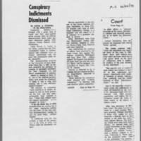 "1970-12-24 Iowa City Press-Citizen Article: """"Conspiracy Indictments Dismissed"""""