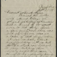 1918-09-11 Thomas Messenger to Mr. & Mrs. N.H. Messenger Page 1