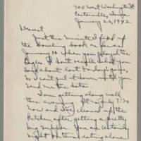 1942-01-26 Laura Davis to Lloyd Davis Page 1