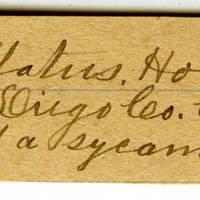 Clinton Mellen Jones, egg card # 612