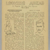 Looking Ahead, v. 1, issue 4, 1940