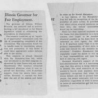 "1953-05-22 Des Moines Register Article: ""Illinois Governor for Fair Employment"""