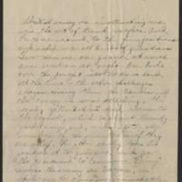 1918-04-21 Thomas Messenger to Vera Wade Page 2