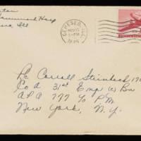1945-11-14 Evelyn Burton to Carroll Steinbeck - Envelope