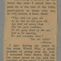 """Clipping: """"Comforts Those Who Mourn"""""""