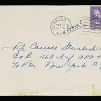 1945-09-06 Evelyn Burton to Carroll Steinbeck - Envelope