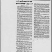 "1975-07-09 Daily Iowan Article: ""Afro-American Cultural Center"""