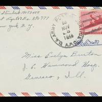 1945-11-02 Carroll Steinbeck to Evelyn Burton - Envelope