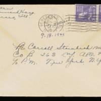 1945-09-18 Evelyn Burton to Carroll Steinbeck - Envelope
