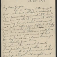 1918-12-28 Emily Reynolds to Conger Reynolds Page 1