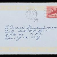 1946-02-18 Evelyn Burton to Carroll Steinbeck - Envelope