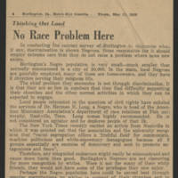 "1950-05-11 Burlington Hawkeye Gazette: ""No Race Problem Here"""