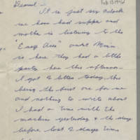 1942-02-13 Lloyd Davis to Laura Davis Page 1