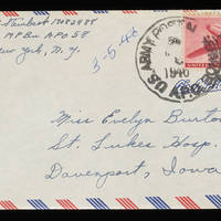 1946-03-05 Carroll Steinbeck to Evelyn Burton - Envelope
