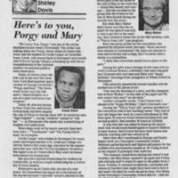"1985-02-25 """"Here's to you Porgy and Mary"""""
