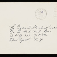 1946-01-12 Evelyn Burton to Carroll Steinbeck - Envelope