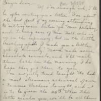 1918-03-16 Daphne Reynolds to Conger Reynolds Page 1