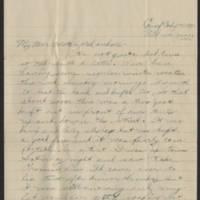 1918-01-23 Thomas Messenger to Mr. & Mrs. N.H. Messenger Page 1