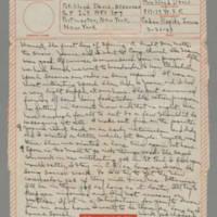 1943-03-21 Laura Davis to Lloyd Davis Page 1