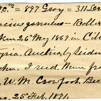 Clinton Mellen Jones, egg card # 769