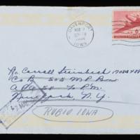 1946-03-04 Evelyn Burton to Carroll Steinbeck - Envelope