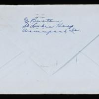 1946-02-22 Evelyn Burton to Carroll Steinbeck - Envelope back