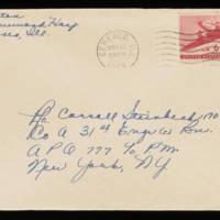 1945-11-16 Evelyn Burton to Carroll Steinbeck - Envelope